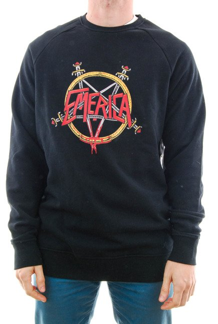 Bluza Emerica - Arrows Crewneck Black