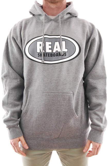 Bluza Real - Oval Hoodie Heather/White
