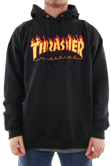 Bluza Thrasher- Hood Flame Black