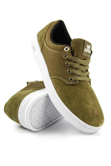Buty Supra - Chino Court Olive-White