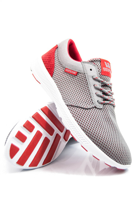 Buty Supra - Hammer Run Grey- Red