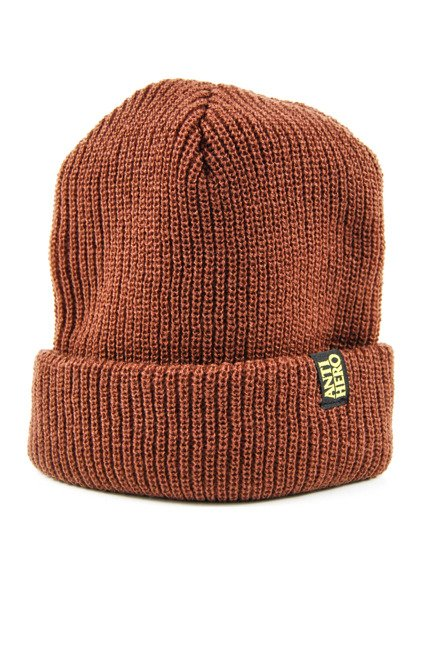 Czapka Anti Hero -Beanie Black Hero Clip/Cuf Brown