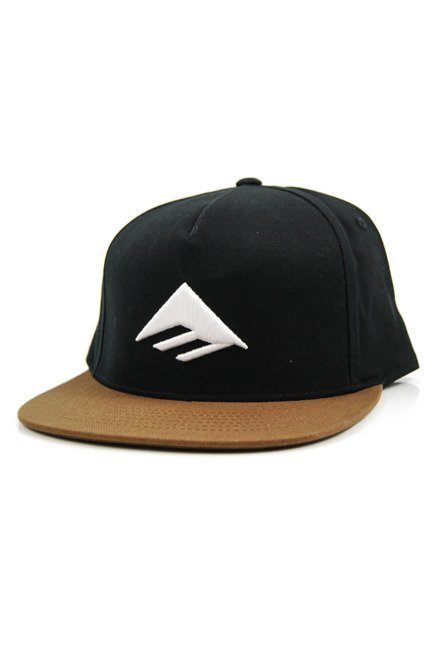 Czapka z daszkiem Emerica - Triangle Snapback Black/Brown