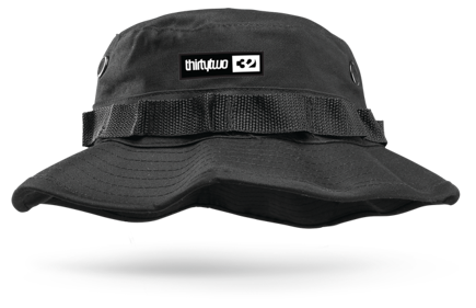 Czapka z daszkiem ThirtyTwo Wilhelm 5 Panel Flap ZD (black)