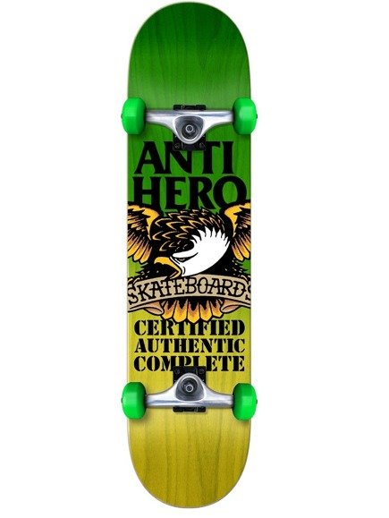 Deska kompletna Antihero - Certified Fade Green/Yellow