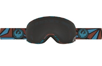 Gogle Dragon X2s - Structure/Dark Smoke + Yellow Blue Ionized  Free Lens
