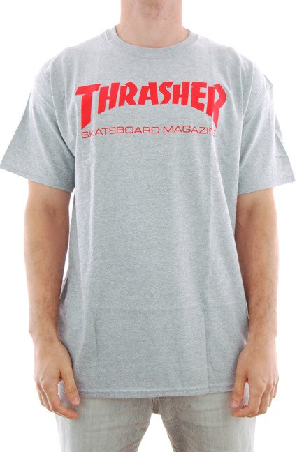 Koszulka Thrasher - Skate Mag Grey/Red