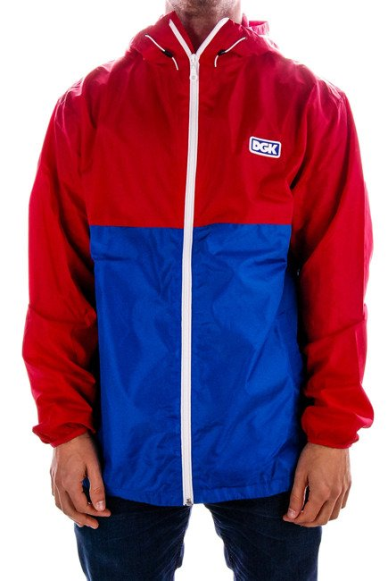 Kurtka DGK - Pier windbreaker red/blue