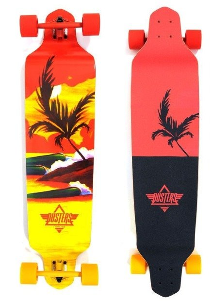 "Longboard Dusters California - Thirds  41.25"" Red/Yel"