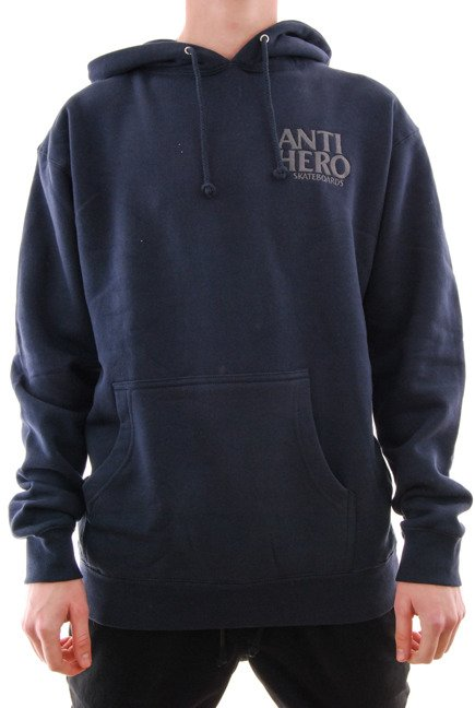 Bluza Antihero - Lil Black Hero Embroidered Hoodzip