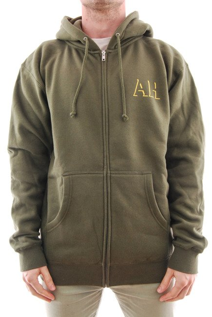 Bluza Antihero - Zip Drop Hero Army/Gold