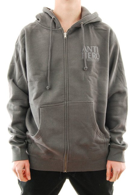 Bluza Antihero - Zip Lil Black Hero Embroidered Hoodzip