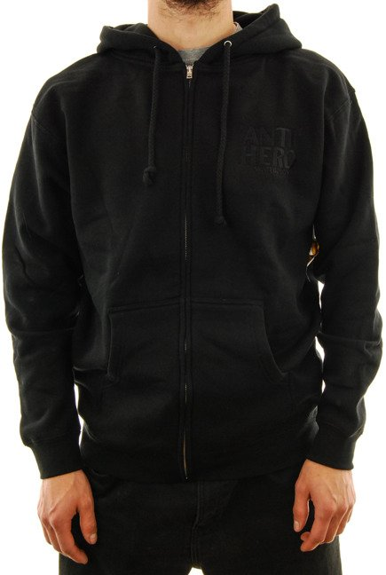 Bluza Antihero - Zip Lil Black Hero Embroidered black