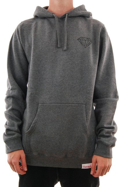 Bluza Diamond Supply Co. - Brilliant Hoodie Grey Heather