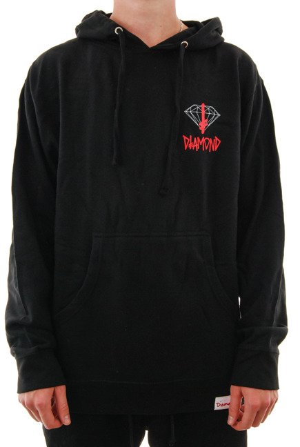 Bluza Diamond Supply Co. - Deathwish Sign Hoodie Black