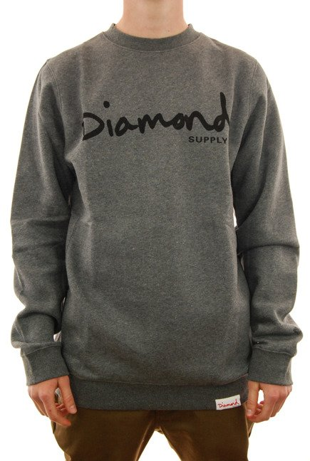 Bluza Diamond Supply Co. - Og Script Crewneck grey