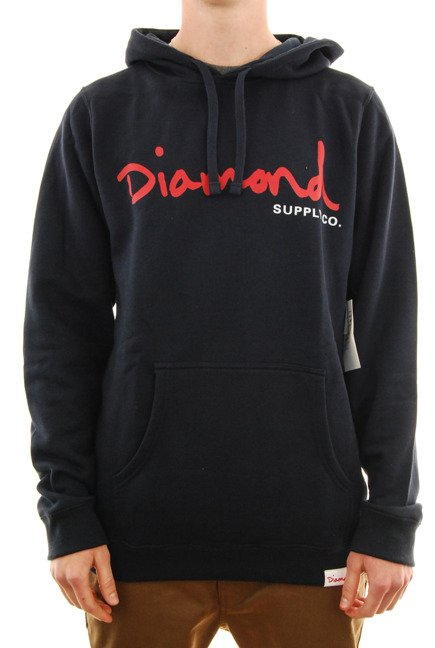 Bluza Diamond Supply Co. - Og Script Crewneck navy