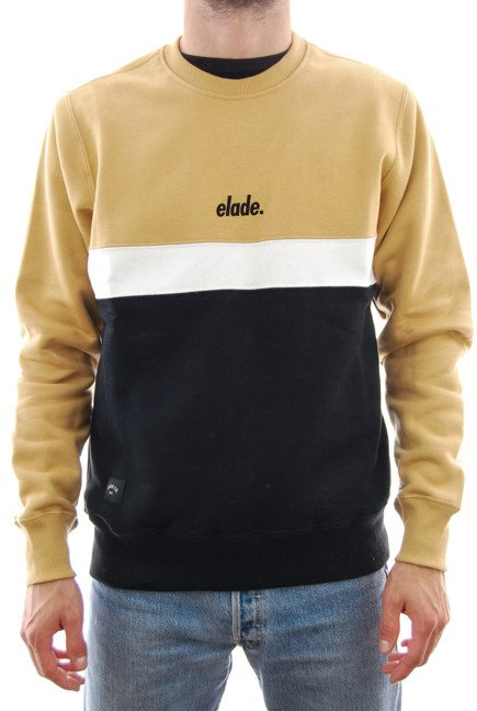 Bluza Elade - Colour Block Crewneck Beige/White/Black