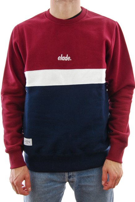 Bluza Elade - Colour Block Crewneck Maroon/White/Navy Blue