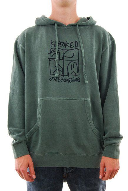 Bluza Krooked - Ultra Pullover Hooded Alpine Green