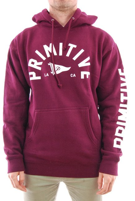 Bluza Primitive - Big Arch Pennant Pullover Hoodie Burgundy
