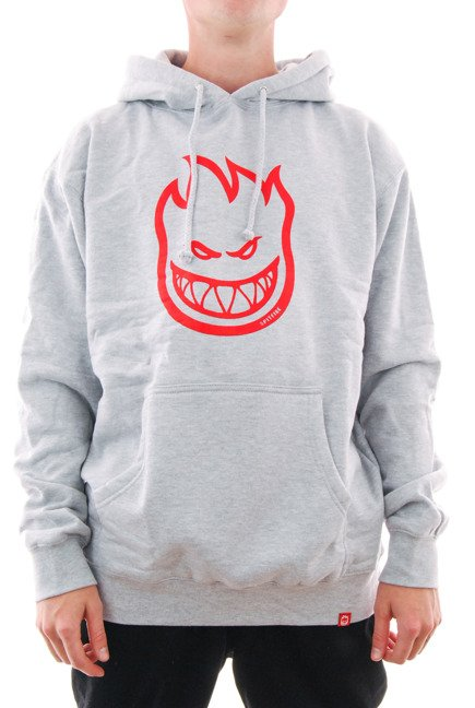 Bluza Spitfire - Bighead Hood Grey Heather/Red