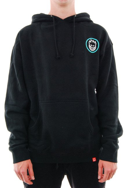 Bluza Spitfire - Classic SWIRL Fade Hood Black/Turquoise