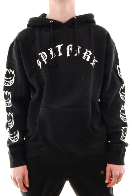 Bluza Spitfire - Old E Embroidered Hoodie Black/white