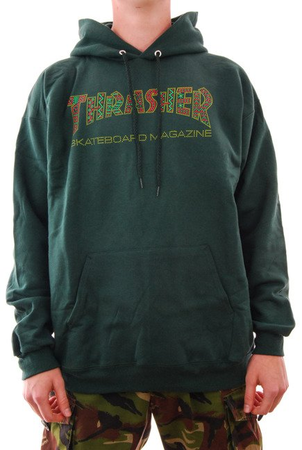 Bluza Thrasher- Davis Hood Forest Green