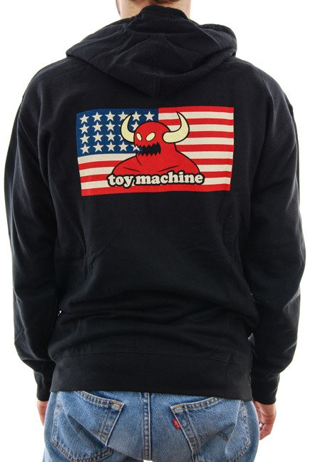 Bluza Toy Machine - American Monster Zip Black