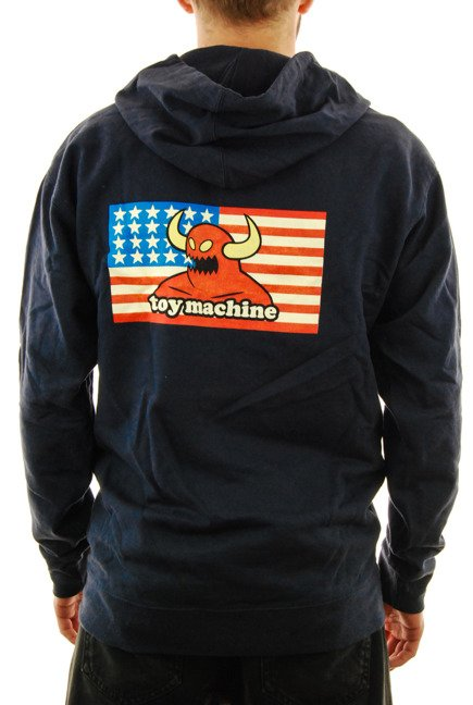 Bluza Toy Machine - American Monster Zip navy