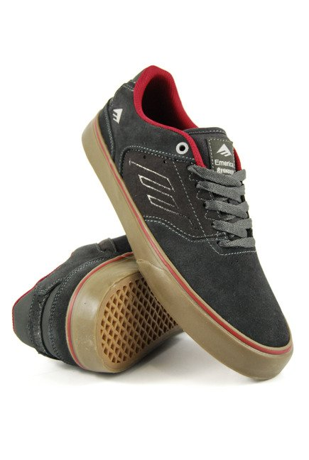 Buty Emerica - The Reynolds Low Vulc dark grey/grey/red