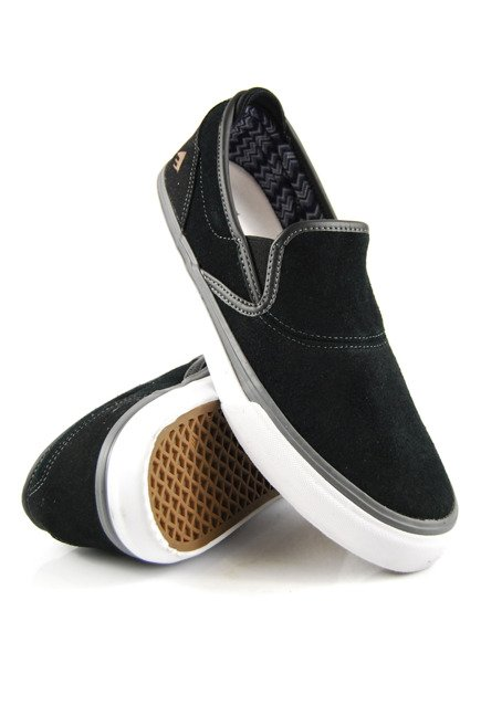 Buty Emerica  - Wino G6 Sli-On Black/Grey/White