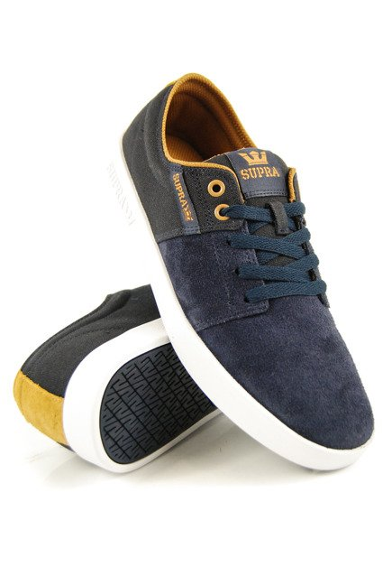 Buty Supra - Stacks II Navy/Tan-White