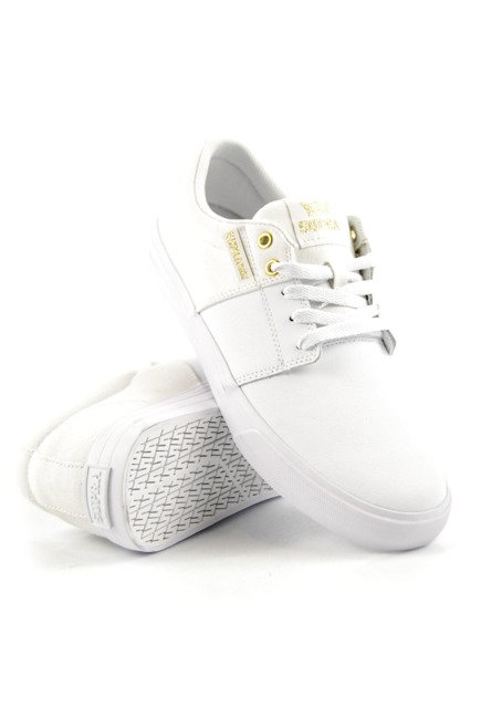 Buty Supra - Stacks Vulc II white/gold white