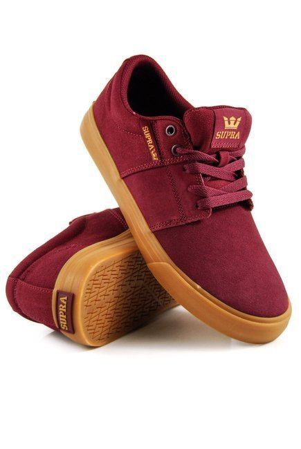 Buty Supra - Stacks Vulc II wine/tan-lt gum