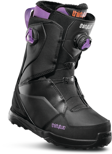 Buty snowboardowe ThirtyTwo - WMN Lashed Double Boa Black/Purple