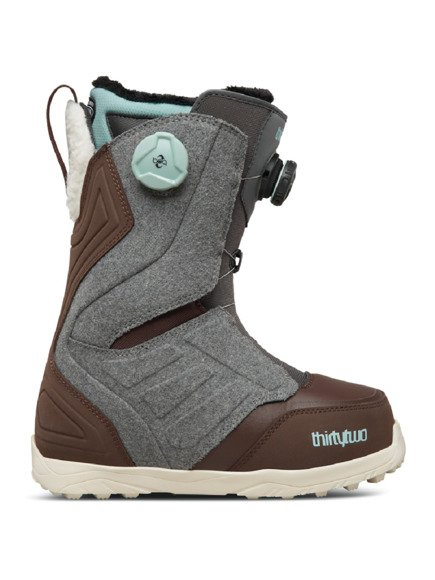 Buty snowboardowe ThirtyTwo - Wmn Lashed Double Boa Grey/Brown
