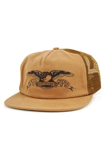 Czapka z daszkiem Antihero - Eagle Embroidered Trucker brown