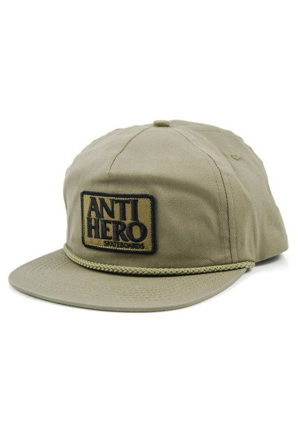 Czapka z daszkiem Antihero - Reserved Patch Snapback Aloe Green