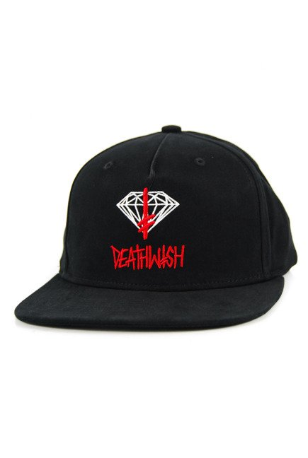 Czapka z daszkiem Diamond Supply Co. - Deathwish Sing Snapback Black