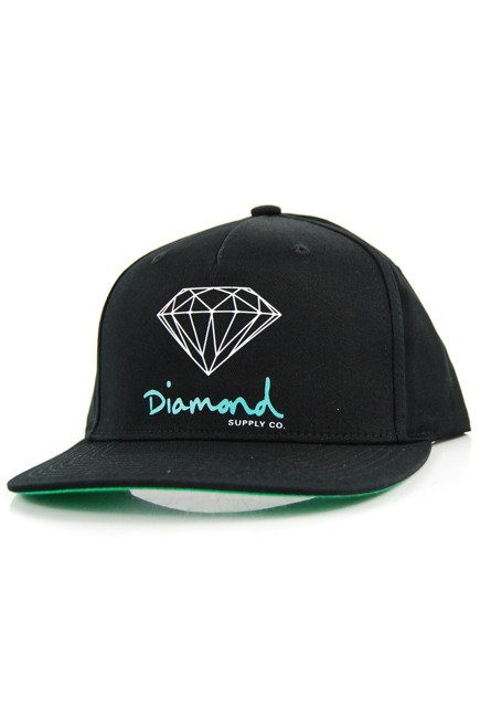 Czapka z daszkiem Diamond Supply Co. - OG Sing black/green