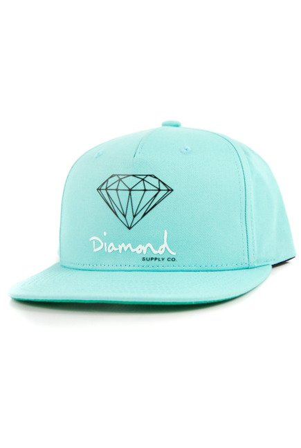 Czapka z daszkiem Diamond Supply Co. - OG Sing dblue/green