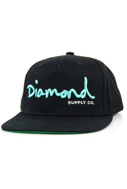 Czapka z daszkiem Diamond Supply Co. - Og Script Snapback Black