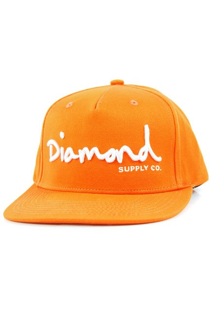Czapka z daszkiem Diamond Supply Co. - Og Script Snapback Orange