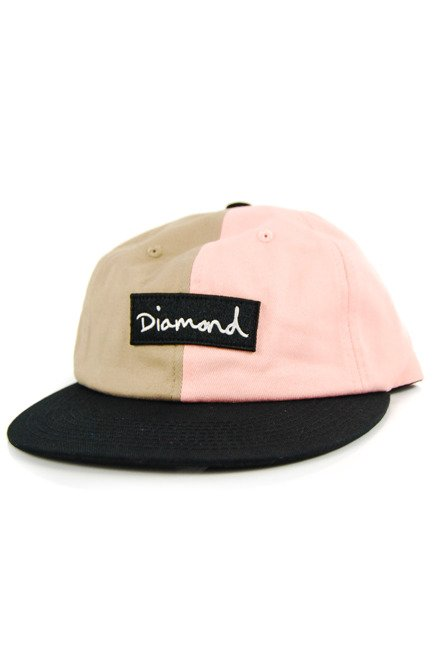 Czapka z daszkiem Diamond Supply Co. - Split Script 2 Pan pink/brown/black