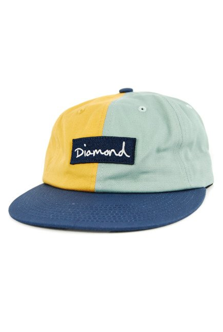 Czapka z daszkiem Diamond Supply Co. - Split Script 2 Pan yellow/pblue/navy