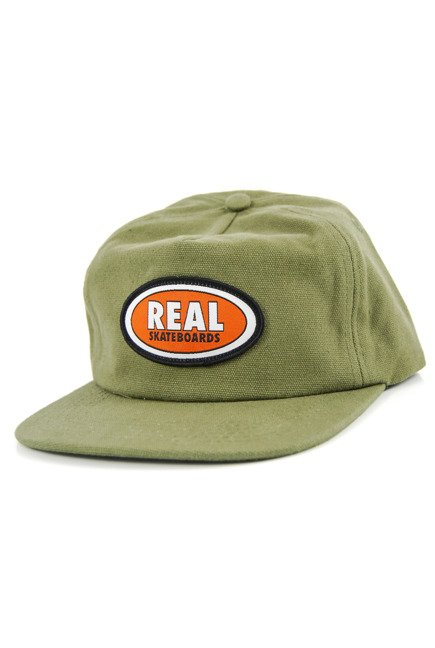 Czapka z daszkiem Real - Oval Patch Snapback olive/orange