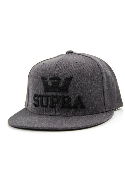 Czapka z daszkiem Supra - Above Snapback Charcoal Heather