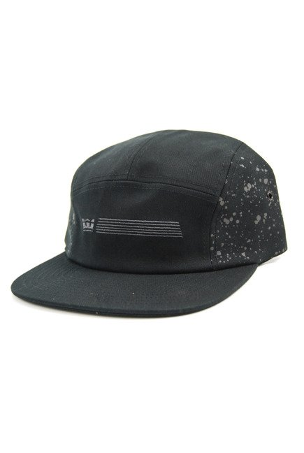 Czapka z daszkiem Supra- Splatter 5 Panel Slider Hat Black Splatter